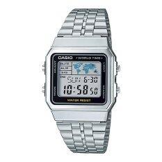 ขาย คาสิโอผู้ชายสายนาฬิกาสเตนเลสสตีลเงินของ A500Wa 1D นานาชาติ Casio ผู้ค้าส่ง