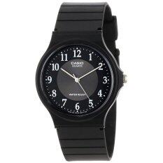 Casio นาฬิกาข้อมือ รุ่น Mq 24 1B3 Black Silver ใหม่ล่าสุด