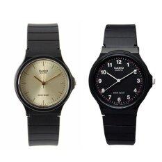 ราคา Casio นาฬิกาข้อมือผู้ชาย สีดำ สายเรซิ่น รุ่น Mq 24 9E และ Mq 24 1B แพ็คคู่ เป็นต้นฉบับ