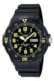 Casio นาฬิกาข้อมือผู้ชาย สีดำ เหลือง สายเรซิ่น รุ่น Mrw 200H 9Bvdf เป็นต้นฉบับ