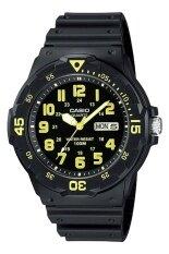 ส่วนลด Casio นาฬิกาข้อมือผู้ชาย สีดำ เหลือง สายเรซิ่น รุ่น Mrw 200H 9Bvdf Casio Thailand