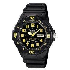 ราคา ราคาถูกที่สุด Casio นาฬิกาข้อมือผู้ชาย รุ่น Mrw 200H 9Bvdf Black Yellow