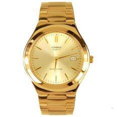 ส่วนลด Casio นาฬิกาข้อมือ ผู้ชาย สายสเตนเลสสตีล รุ่น Mtp 1170N 9A Gold ประกันCmg