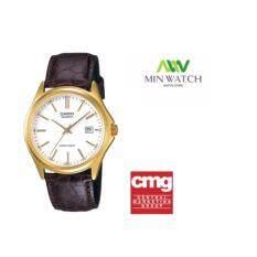 ขาย Casio นาฬิกาข้อมือ ผู้ชาย สายหนังสีน้ำตาล รุ่น Mtp 1183Q 7A Silver Brown เป็นต้นฉบับ