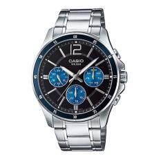 ราคา Casio นาฬิกาข้อมือผู้ชาย สายแสตนเลส รุ่น Mtp 1374D 2Av ใหม่