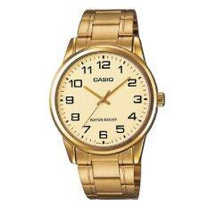 ราคา Casio นาฬิกาข้อมือ สายสเตนเลสสตีล สีทอง รุ่น Mtp V001G 9Budf เป็นต้นฉบับ