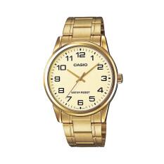 ราคา Casio นาฬิกาข้อมือผู้ชาย รุ่น Mtp V001G 9Budf สีทอง Casio ใหม่
