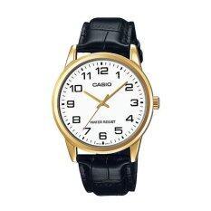 Casio นาฬิกาผู้ชาย สีดำ สายหนัง รุ่น Mtp V001Gl 7Budf ใน ไทย