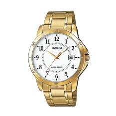 ซื้อ Casio นาฬิกาข้อมือผู้ชาย รุ่น Mtp V004G 7Budf ทอง Gold ออนไลน์ ไทย