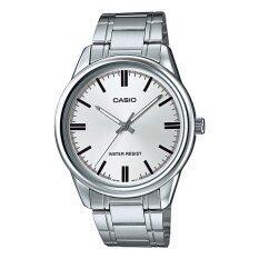 ขาย ซื้อ Casio นาฬิกาข้อมือผู้ชาย สีเงิน สายสแตนเลส รุ่น Mtp V005D 7Audf