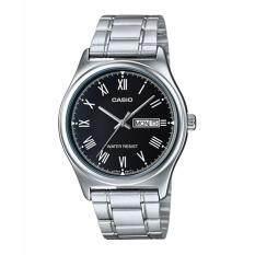 ราคา Casio นาฬิกาข้อมือผู้ชาย สายสแตนเลส รุ่น Mtp V006D 1B Silver Black รับประกันศูนย์ 1 ปี ของแท้ ออนไลน์