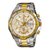 ซื้อ Casio นาฬิกาข้อมือ Edifice Chronograph รุ่น Efr 539Sg 7A White Gold Casio Edifice ถูก