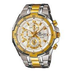 โปรโมชั่น Casio นาฬิกาข้อมือ Edifice Chronograph รุ่น Efr 539Sg 7A White Gold