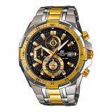 ราคา Casio นาฬิกาข้อมือผู้ชาย สายแสตนเลส Edifice Chronograph Black Gold รุ่น Efr 539Sg 1A เป็นต้นฉบับ Casio Edifice