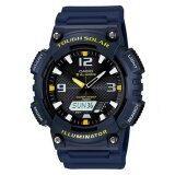 ราคา Casio นาฬิกาข้อมือผู้ชาย สายเรซิ่น รุ่น Aq S810W 2Av Dark Blue ใหม่