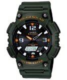 โปรโมชั่น Casio นาฬิกาข้อมือผู้ชาย สายเรซิ่น รุ่น Aq S810W 3Av Army Green สมุทรปราการ