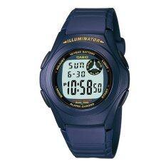 ราคา Casio นาฬิกาข้อมือผู้ชาย สายเรซิน รุ่น F 200W 2A Blue ใหม่