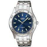 ราคา Casio นาฬิกาข้อมือ ผู้ชาย สายสเตนเลสสตีล รุ่น Mtp 1243D 2A Blue Silver