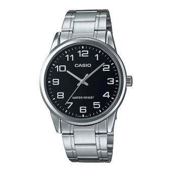 นาฬิกา รุ่น Casio นาฬิกาข้อมือ ผู้ชาย  สายสแตนเลส รุ่น MTP-V001D-1B ( Black/Silver ) จากร้าน MIN WATCH