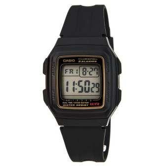 Casio นาฬิกาข้อมือผู้ชาย สีดำ สายเรซิน รุ่น F-201WA-9ADF
