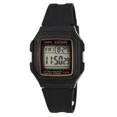 ราคา Casio นาฬิกาข้อมือผู้ชาย สีดำ สายเรซิน รุ่น F 201Wa 9Adf