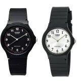 ขาย Casio นาฬิกาข้อมือผู้ชาย สีดำ สายเรซิ่น รุ่น Mq 24 1B และ Mq 24 7B3 แพ็คคู่ Casio ถูก