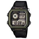 ราคา Casio นาฬิกาข้อมือผู้ชาย สีดำ สายผ้า รุ่น Ae 1200Whb 1Bvdf Casio เป็นต้นฉบับ
