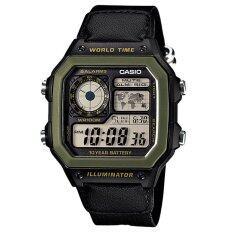 โปรโมชั่น Casio นาฬิกาข้อมือผู้ชาย สีดำ สายผ้า รุ่น Ae 1200Whb 1Bvdf Casio
