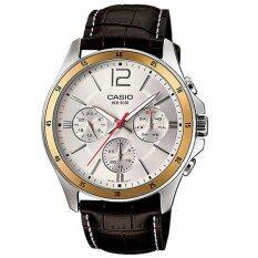 ส่วนลด Casio นาฬิกาข้อมือผู้ชาย สีน้ำตาลเข้ม สายหนัง รุ่นT Mtp 1374L 7Avdf