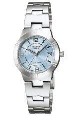 ราคา Casio นาฬิกาข้อมือผู้หญิง สายสแตนเลส รุ่น Ltp 1241D 2Adf สีเงิน ฟ้า ที่สุด