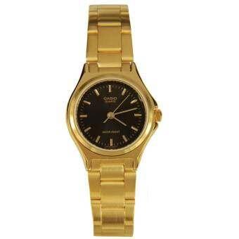 นาฬิกา รุ่น Casio นาฬิกาข้อมือผู้หญิง สายสแตนเลส สีทอง รุ่น LTP-1130N-1A ( Black/Gold ) จากร้าน MIN WATCH