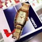 ซื้อ Casio นาฬิกาข้อมือผู้หญิง สายสแตนเลสสตีล รุ่น Ltp 1165N 9Crdf Gold