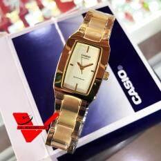 ซื้อ Casio นาฬิกาข้อมือผู้หญิง สายสแตนเลสสตีล รุ่น Ltp 1165N 9Crdf Gold ถูก