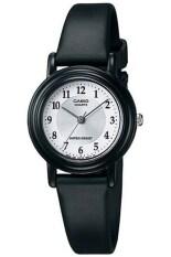 ทบทวน Casio นาฬิกาข้อมือผู้หญิง สีดำ ขาว สายหนังเรซิ่น รุ่น Lq 139Amv 7B3 Casio
