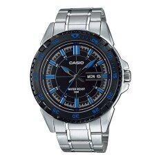 ราคา Casio นาฬิกาข้อมือ รุ่น Mtp 1078D 1A2V Silver Black ใหม่ล่าสุด