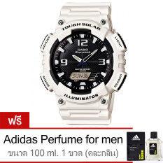 ขาย Casio นาฬิกาข้อมือ Standard Solar Power Aq S810Wc 7Av White Free Adidas Perfume For Men 100Ml 1 ขวด Casio เป็นต้นฉบับ