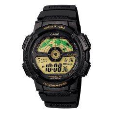 ซื้อ Casio นาฬิกาข้อมือ Standard World Time Map รุ่น Ae 1100W 1B Black ใหม่ล่าสุด