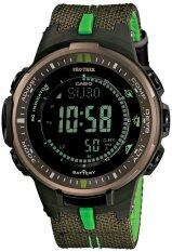 ส่วนลด Casio Protrex นาฬิกาข้อมือผู้ชาย สายผ้า รุ่น Prw 3000B 3Dr Green Casio Protrek Thailand