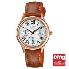 ราคา Casio Sheen Analog นาฬิกาข้อมือ รุ่น She 3049Pgl 7Audr ราคาถูกที่สุด