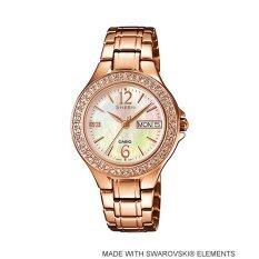 ซื้อ Casio Sheen Analog นาฬิกาข้อมือ รุ่น She 4800Pg 9A Pink Gold ถูก ใน Thailand