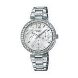 ราคา Casio Sheen Multi Hand นาฬิกาข้อมือ Stainless Strap รุ่น She 3043D 7A