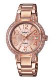 ราคา Casio Sheen นาฬิกาข้อมือผู้หญิง สายสแตนเลส รุ่น She 4804Pg 9A สีทองชมพู Casio Sheen เป็นต้นฉบับ