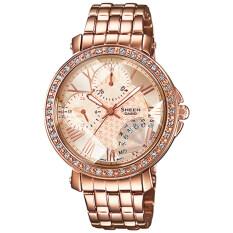ซื้อ Casio Sheen นาฬิกาข้อมือผู้หญิง สายสแตนเลส รุ่น Shn 3011Pg 9A สีทองชมพู ใน พะเยา