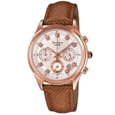 ขาย Casio Sheen นาฬิกาข้อมือผู้หญิง หลายเข็ม สีน้ำตาล สายหนัง รุ่น She 5023Gl 7A Casio Sheen