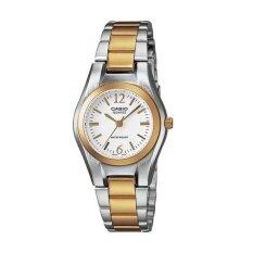 Casio นาฬิกาข้อมือผู้หญิง Silver Gold หน้าขาว สายสแตนเลส รุ่น Ltp 1253Sg 7Adf ใน นนทบุรี