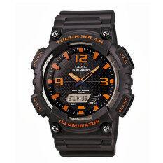 ราคา Casio Standar Solar Power Sport นาฬิกาข้อมือ รุ่น Aq S810W 8Avdf Grey Orange เป็นต้นฉบับ