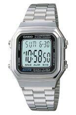 Casio Standard นาฬิกาข้อมือ รุ่น A178Wa 1Adf Silver Casio ถูก ใน ไทย