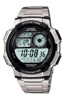 Casio Standard นาฬิกาข้อมือผู้ชาย สายแสตนเลส รุ่น AE-1000WD-1AVDF - สีเงิน
