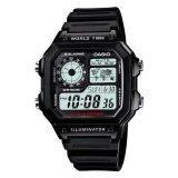 ซื้อ Casio Standard นาฬิกาข้อมือผู้ชาย สีดำ สายเรซิน รุ่น Ae 1200Wh 1Avdf