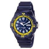 Casio Standard Analog นาฬิกาข้อมือสไตล์สปอร์ต Mrw 200Hc 2Bvdf สีกรมท่า เหลือง ใน Thailand